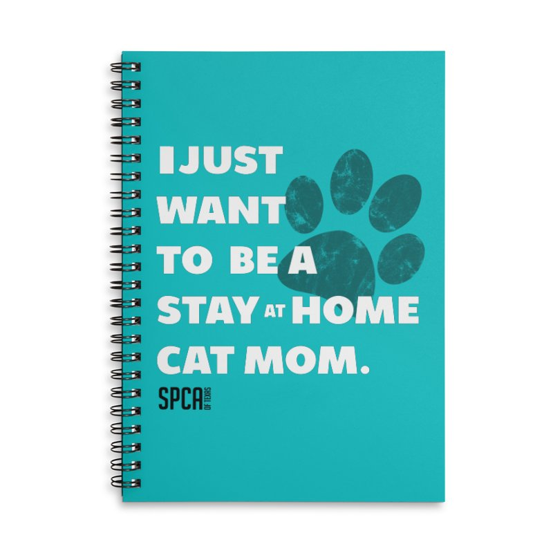 Cat Mom Accessories Lined Spiral Notebook by SPCA of Texas' Artist Shop