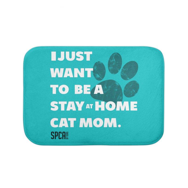 Cat Mom Home Bath Mat by SPCA of Texas' Artist Shop