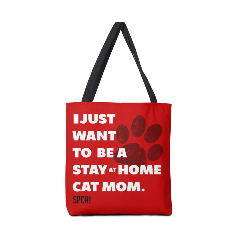 Cat Mom Accessories Tote Bag Bag by SPCA of Texas' Artist Shop