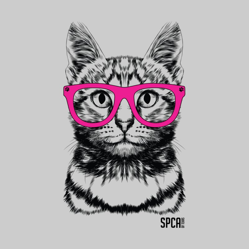 Smarty Cat Home Stretched Canvas by SPCA of Texas' Artist Shop