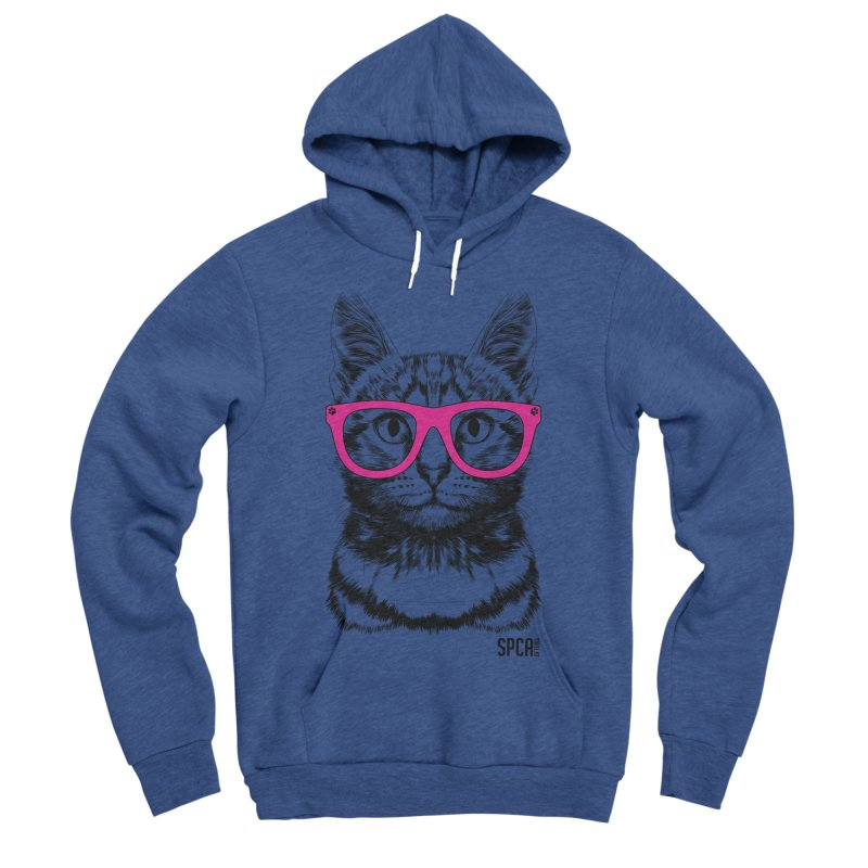 Smarty Cat Men's Sponge Fleece Pullover Hoody by SPCA of Texas' Artist Shop