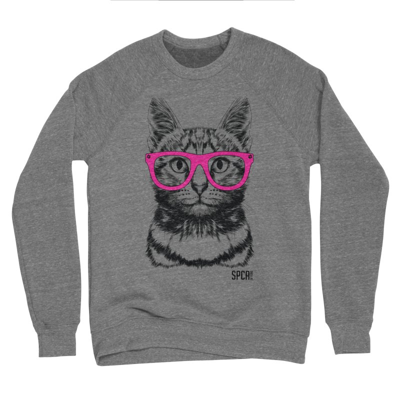 Smarty Cat Women's Sponge Fleece Sweatshirt by SPCA of Texas' Artist Shop