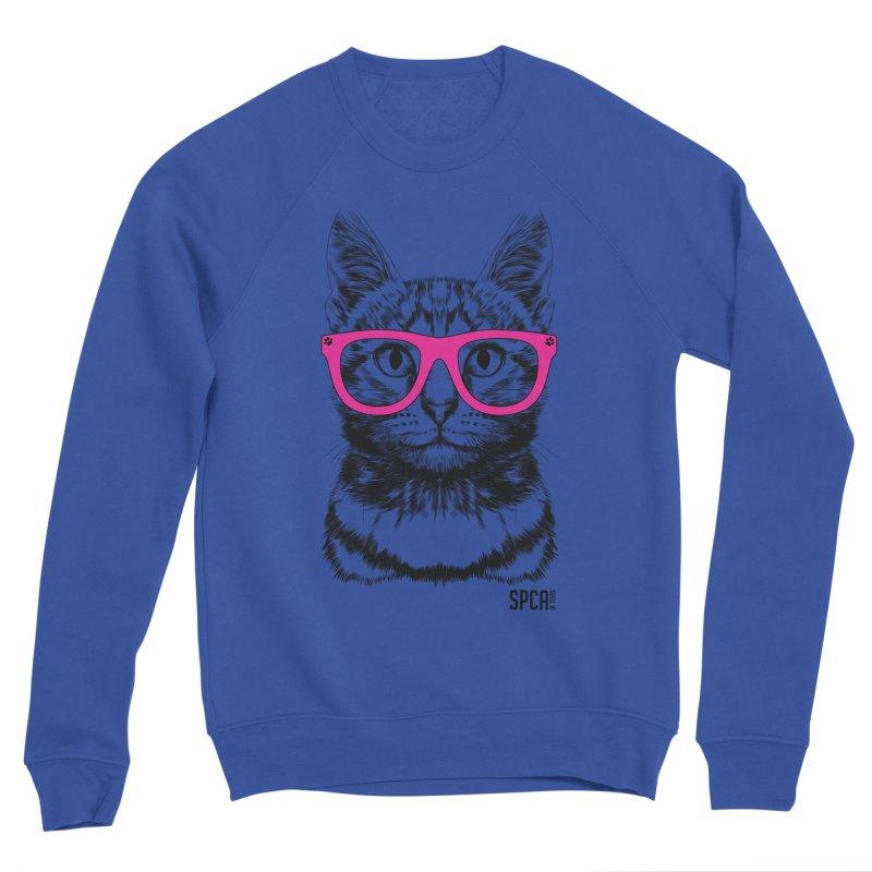 Smarty Cat Men's Sponge Fleece Sweatshirt by SPCA of Texas' Artist Shop