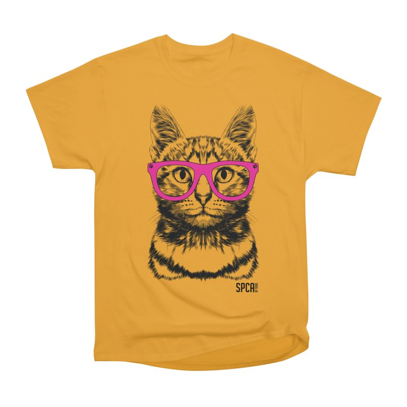 Smarty Cat Men's Heavyweight T-Shirt by SPCA of Texas' Artist Shop