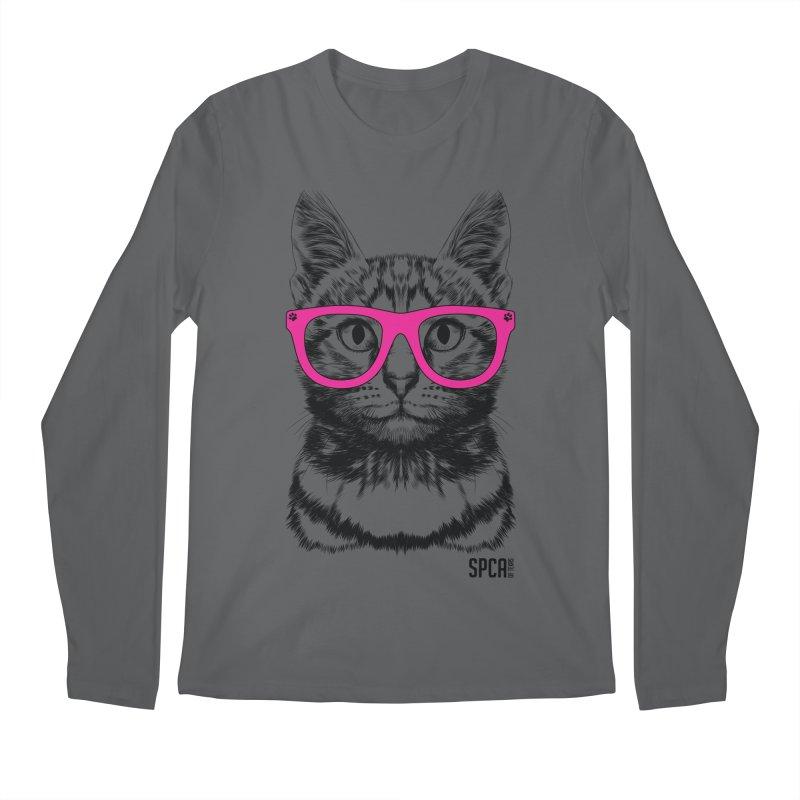 Smarty Cat Men's Longsleeve T-Shirt by SPCA of Texas' Artist Shop
