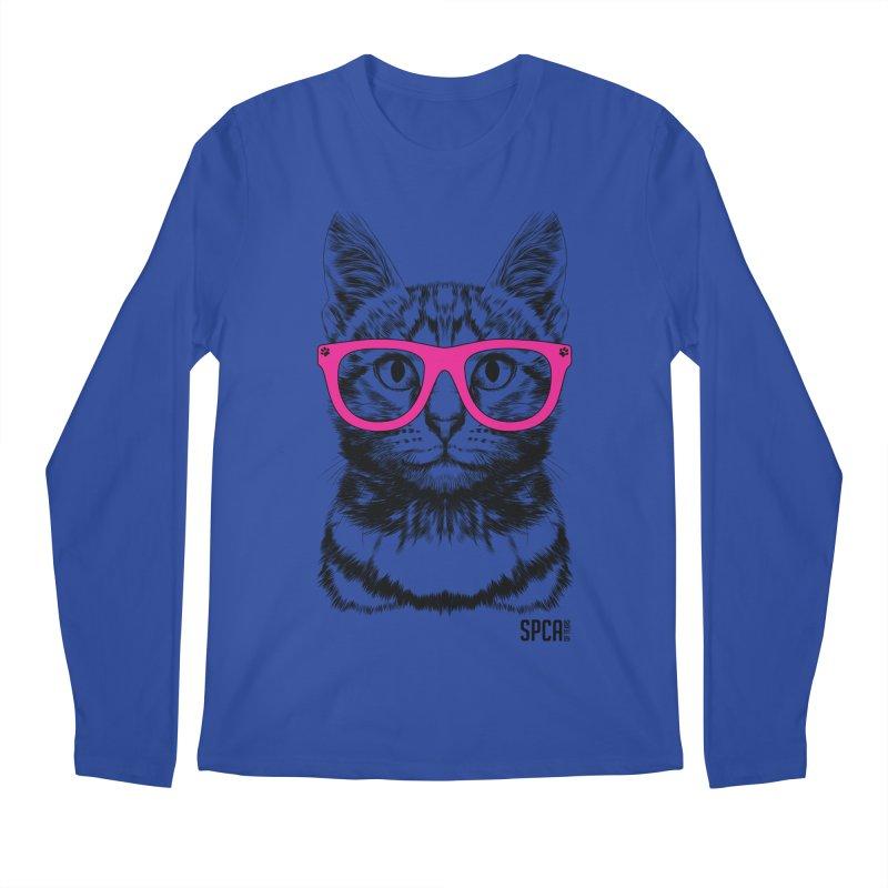 Smarty Cat Men's Regular Longsleeve T-Shirt by SPCA of Texas' Artist Shop