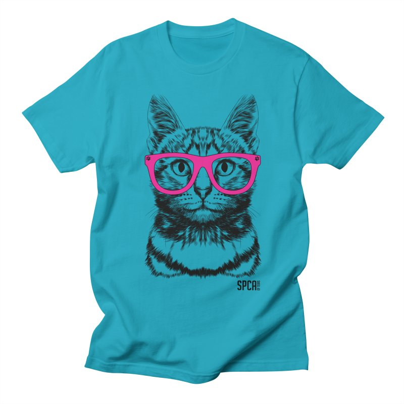 Smarty Cat Men's Regular T-Shirt by SPCA of Texas' Artist Shop