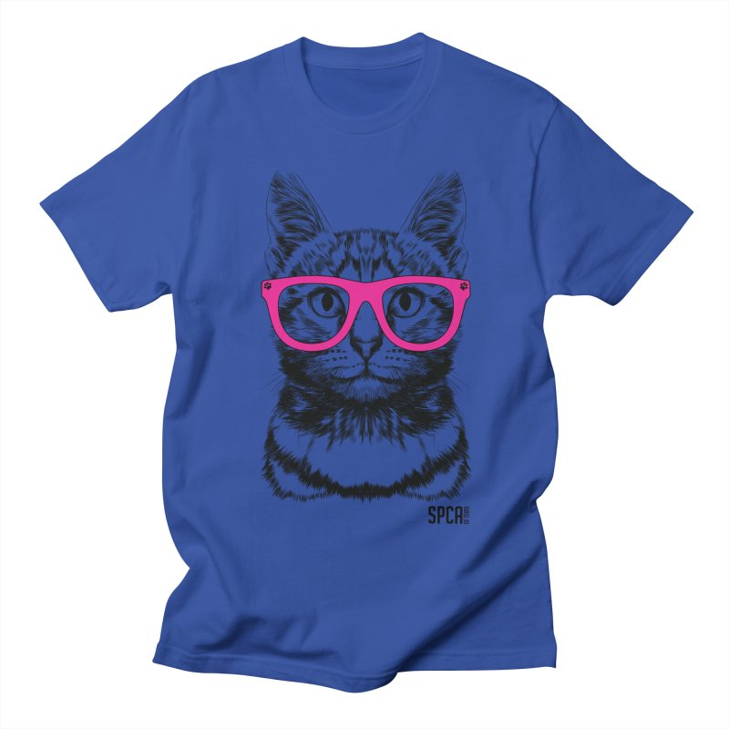 Smarty Cat Men's T-Shirt by SPCA of Texas' Artist Shop