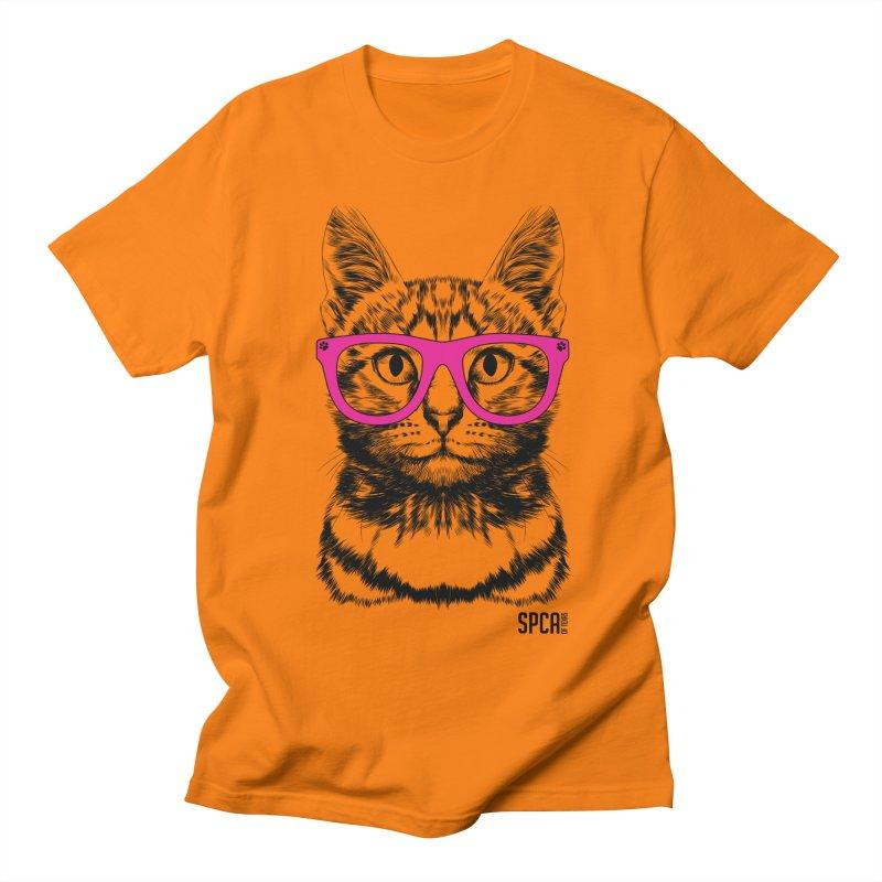 Smarty Cat Men's T-Shirt by SPCA of Texas' Artist Shop