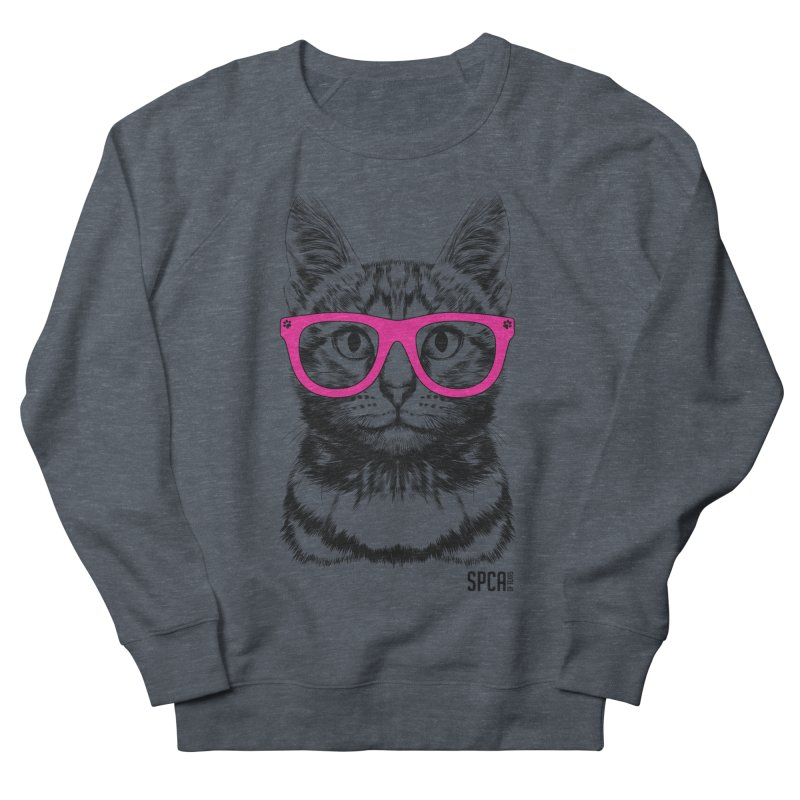 Smarty Cat Men's French Terry Sweatshirt by SPCA of Texas' Artist Shop