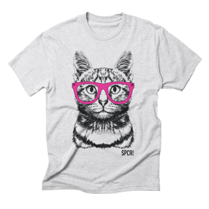 Smarty Cat Men's Triblend T-Shirt by SPCA of Texas' Artist Shop