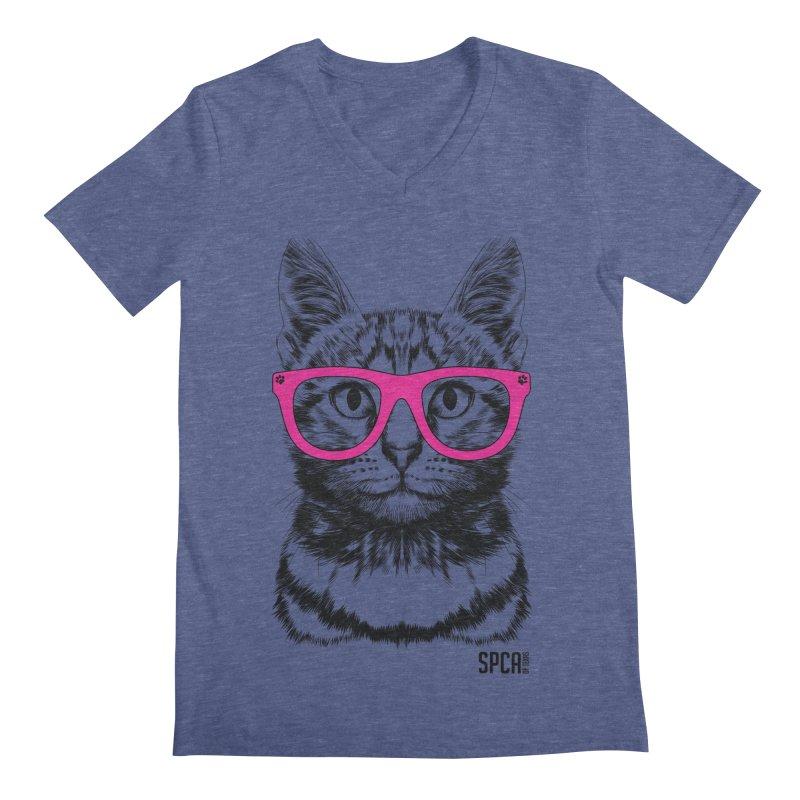 Smarty Cat Men's V-Neck by SPCA of Texas' Artist Shop