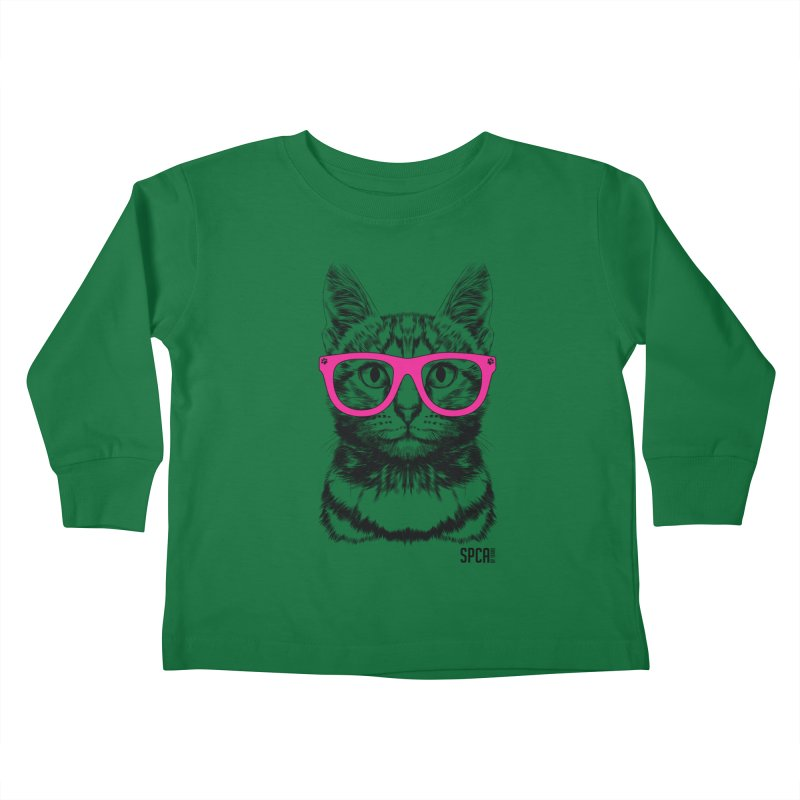 Smarty Cat Kids Toddler Longsleeve T-Shirt by SPCA of Texas' Artist Shop