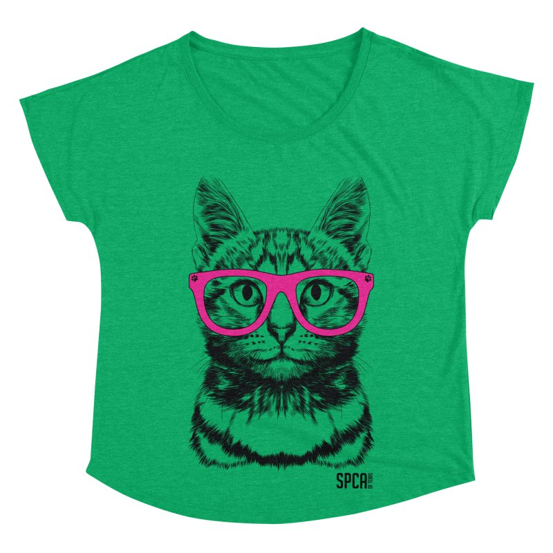 Smarty Cat Women's Dolman Scoop Neck by SPCA of Texas' Artist Shop