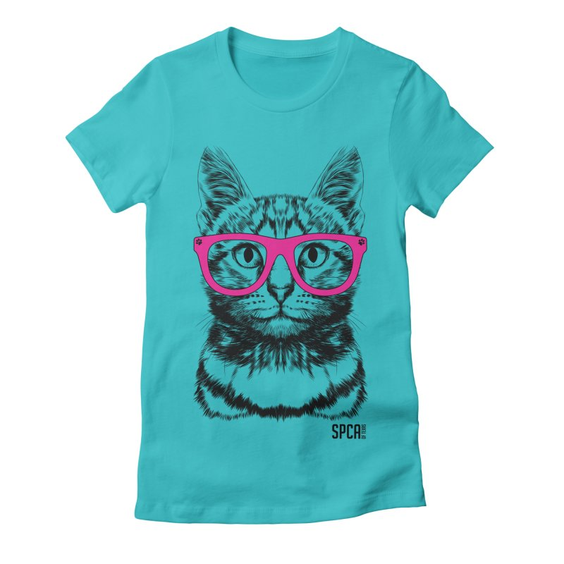 Smarty Cat Women's Fitted T-Shirt by SPCA of Texas' Artist Shop