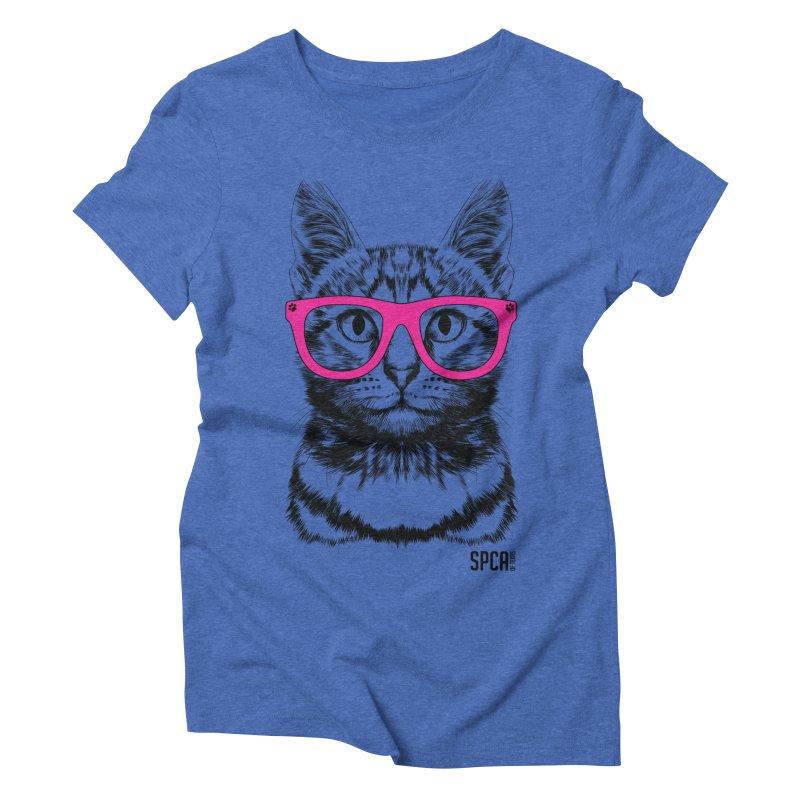 Smarty Cat Women's Triblend T-Shirt by SPCA of Texas' Artist Shop