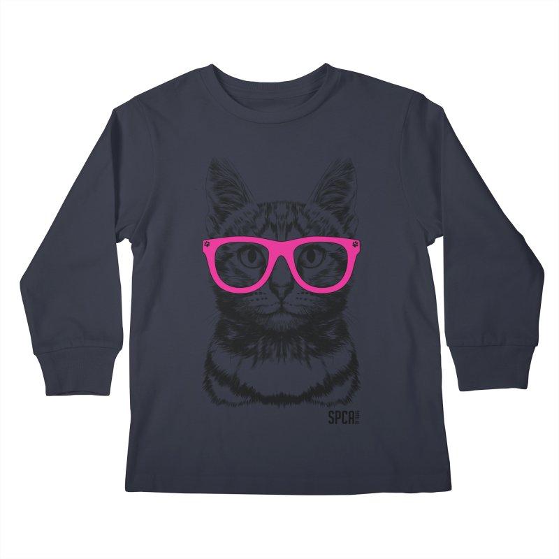 Smarty Cat Kids Longsleeve T-Shirt by SPCA of Texas' Artist Shop