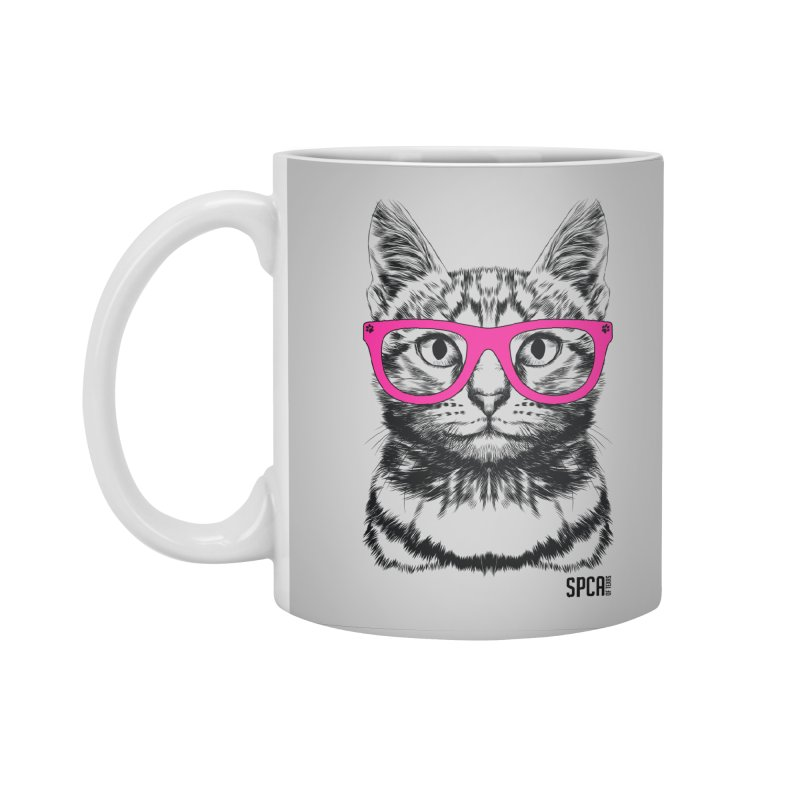 Smarty Cat Accessories Standard Mug by SPCA of Texas' Artist Shop