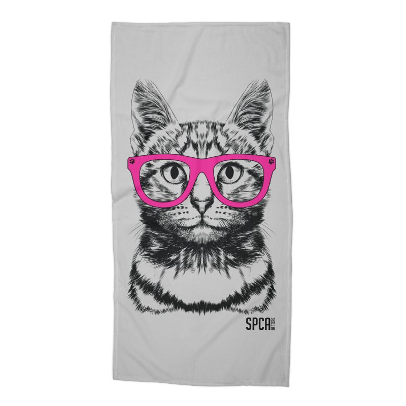 Smarty Cat Accessories Beach Towel by SPCA of Texas' Artist Shop