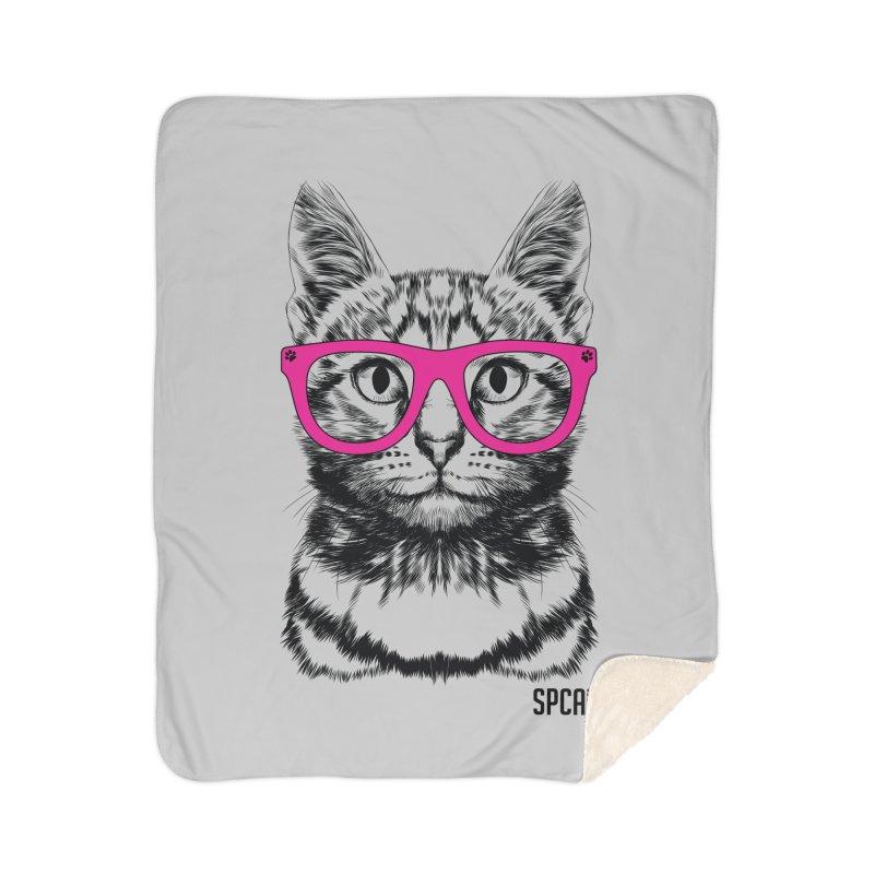Smarty Cat Home Sherpa Blanket Blanket by SPCA of Texas' Artist Shop