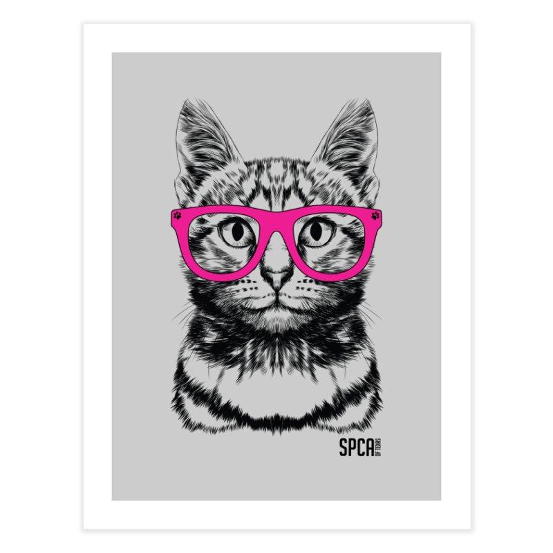 Smarty Cat Home Fine Art Print by SPCA of Texas' Artist Shop