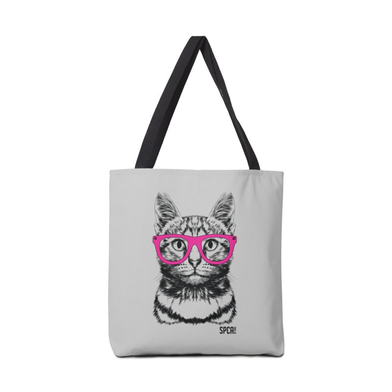 Smarty Cat Accessories Tote Bag Bag by SPCA of Texas' Artist Shop
