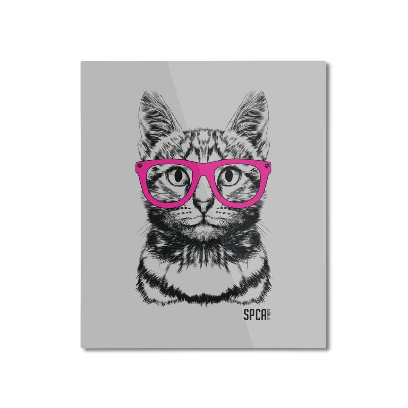 Smarty Cat Home Mounted Aluminum Print by SPCA of Texas' Artist Shop