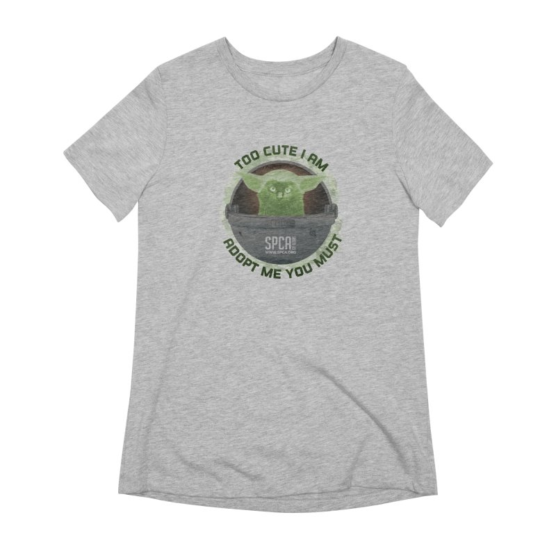 LIMITED EDITION - Baby Yoda Women's Extra Soft T-Shirt by SPCA of Texas' Artist Shop