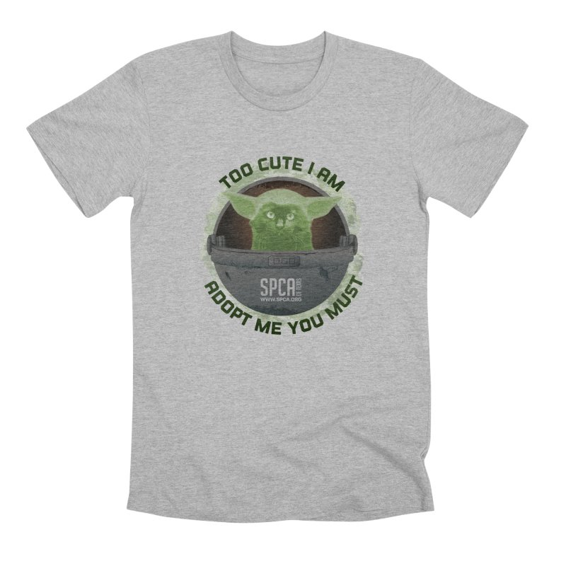 LIMITED EDITION - Baby Yoda Men's Premium T-Shirt by SPCA of Texas' Artist Shop