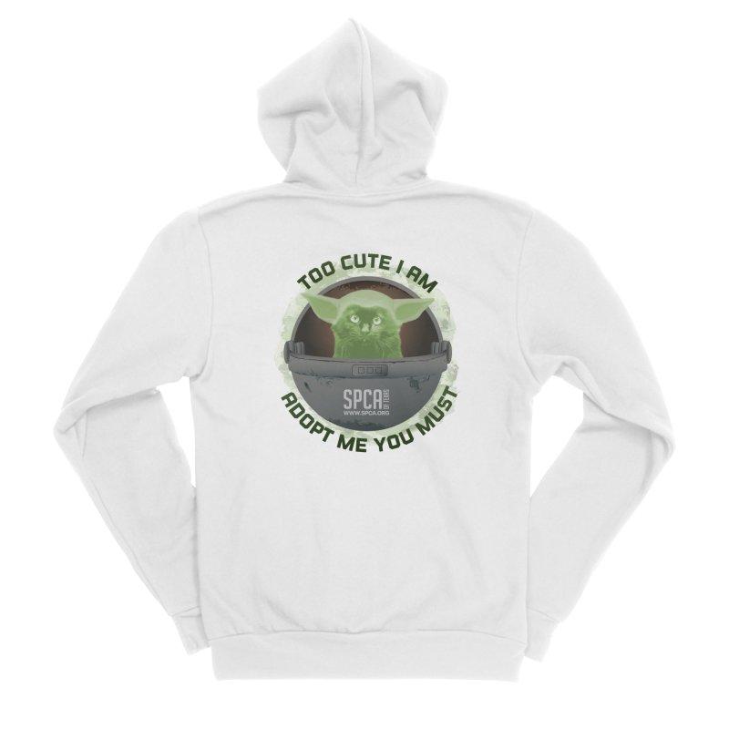 LIMITED EDITION - Baby Yoda Women's Sponge Fleece Zip-Up Hoody by SPCA of Texas' Artist Shop