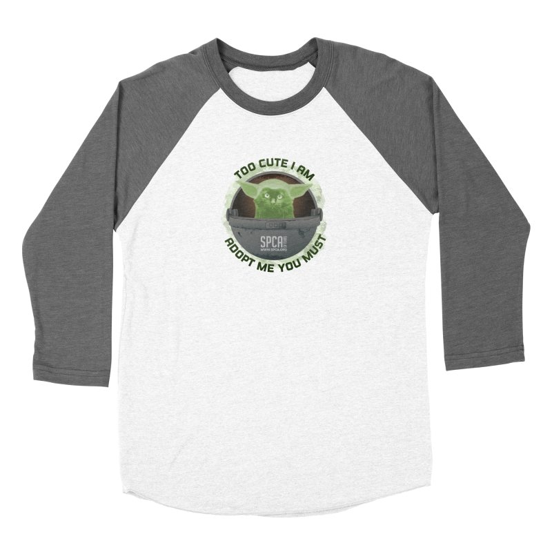 LIMITED EDITION - Baby Yoda Women's Baseball Triblend Longsleeve T-Shirt by SPCA of Texas' Artist Shop