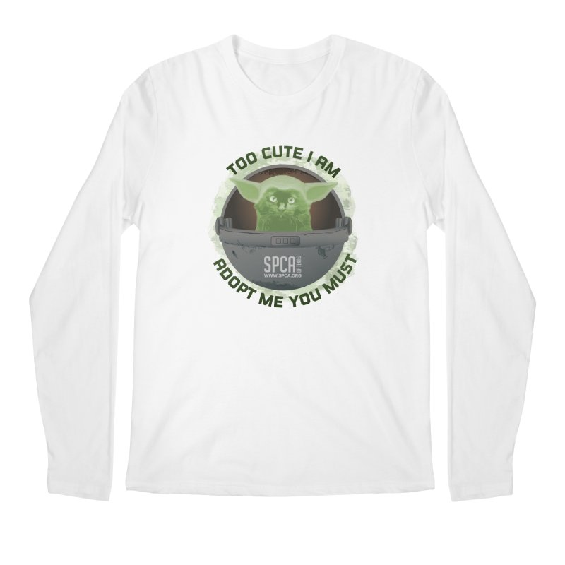 LIMITED EDITION - Baby Yoda Men's Longsleeve T-Shirt by SPCA of Texas' Artist Shop