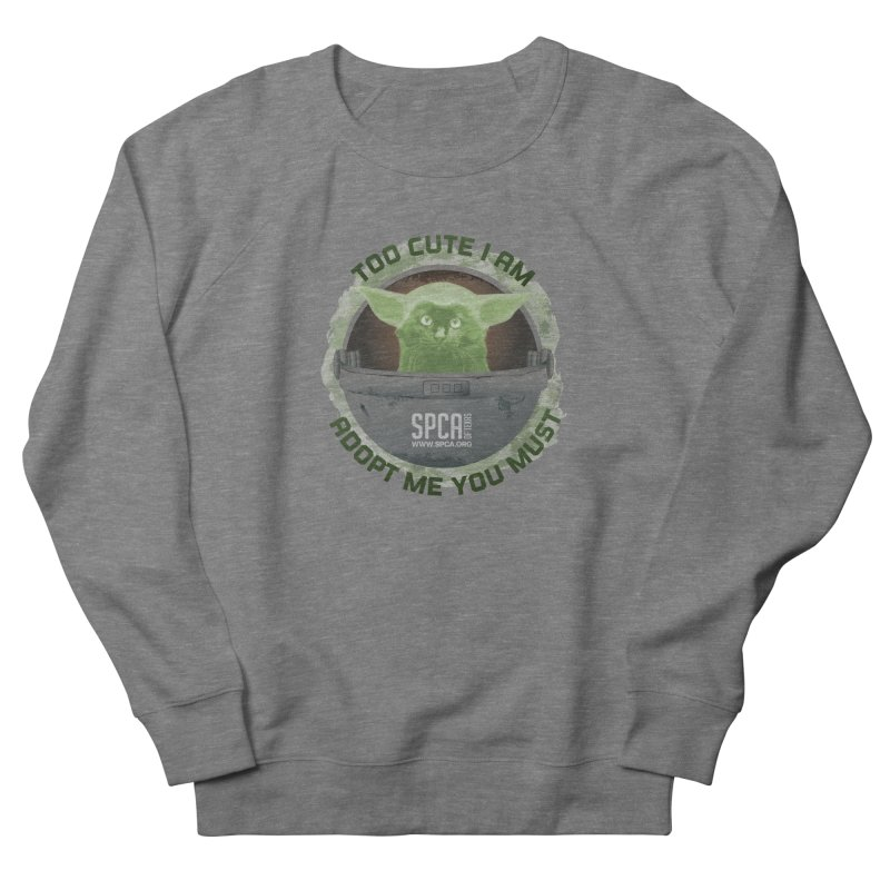 LIMITED EDITION - Baby Yoda Men's French Terry Sweatshirt by SPCA of Texas' Artist Shop
