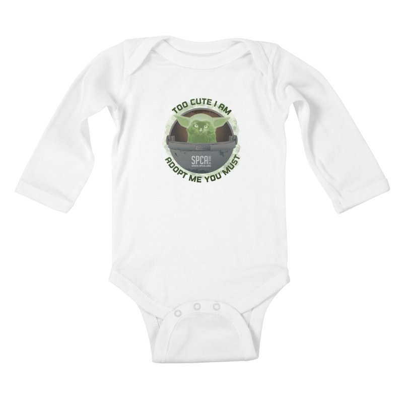 LIMITED EDITION - Baby Yoda Kids Baby Longsleeve Bodysuit by SPCA of Texas' Artist Shop