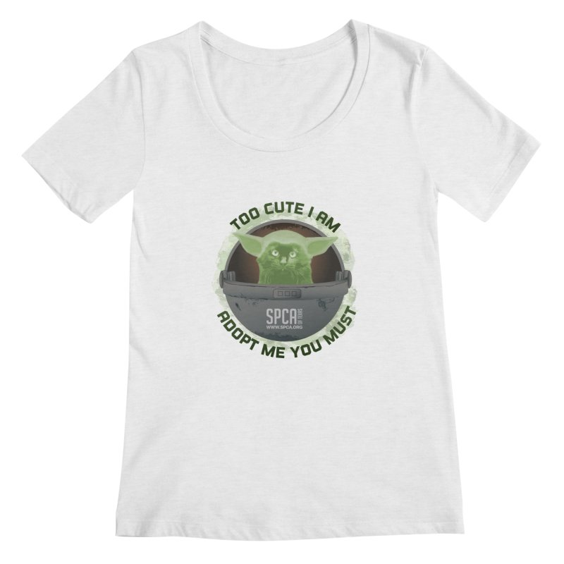 LIMITED EDITION - Baby Yoda Women's Scoop Neck by SPCA of Texas' Artist Shop