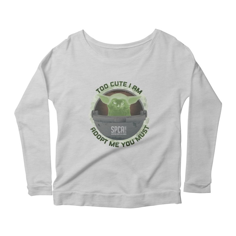 LIMITED EDITION - Baby Yoda Women's Scoop Neck Longsleeve T-Shirt by SPCA of Texas' Artist Shop
