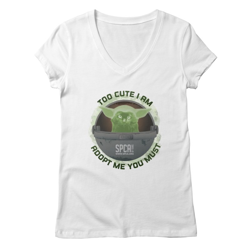LIMITED EDITION - Baby Yoda Women's Regular V-Neck by SPCA of Texas' Artist Shop