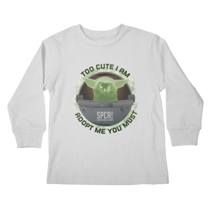 LIMITED EDITION - Baby Yoda Kids Longsleeve T-Shirt by SPCA of Texas' Artist Shop