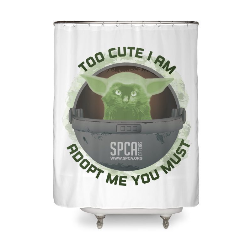 LIMITED EDITION - Baby Yoda Home Shower Curtain by SPCA of Texas' Artist Shop