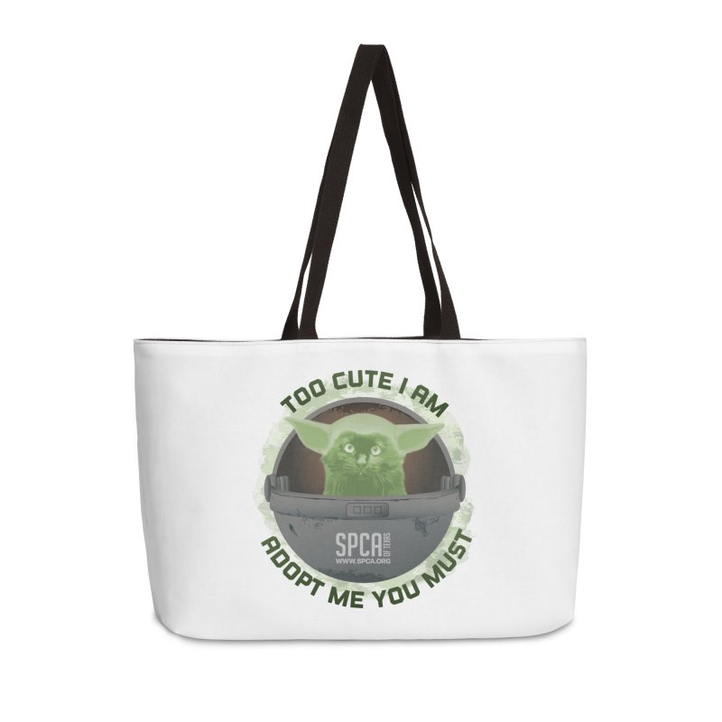 LIMITED EDITION - Baby Yoda Accessories Weekender Bag Bag by SPCA of Texas' Artist Shop