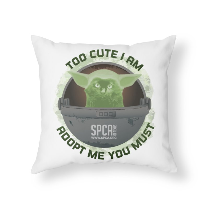 LIMITED EDITION - Baby Yoda Home Throw Pillow by SPCA of Texas' Artist Shop