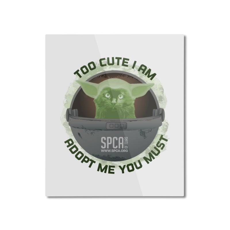 LIMITED EDITION - Baby Yoda Home Mounted Aluminum Print by SPCA of Texas' Artist Shop