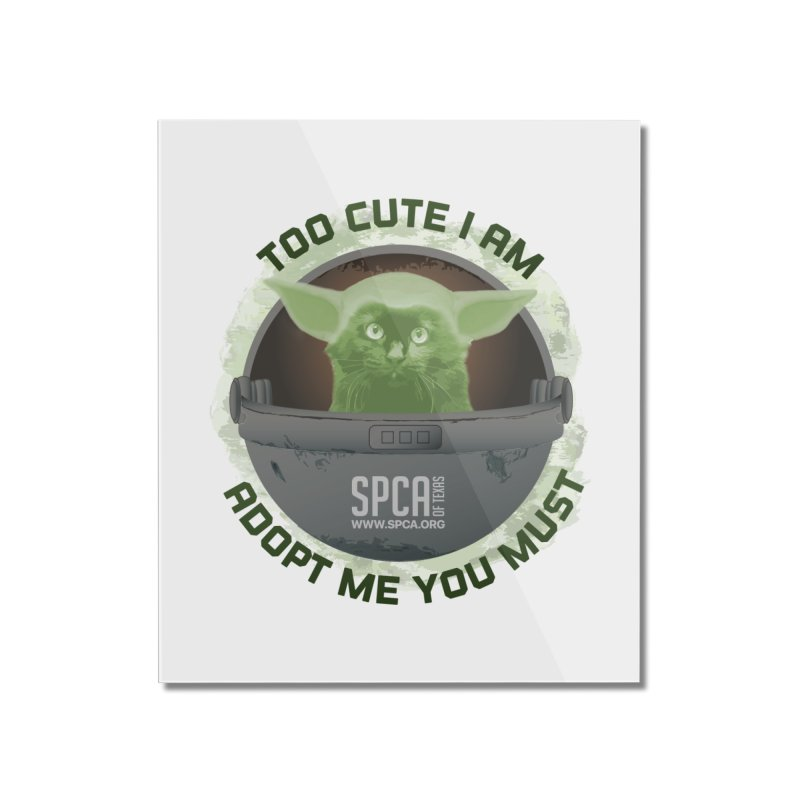 LIMITED EDITION - Baby Yoda Home Mounted Acrylic Print by SPCA of Texas' Artist Shop