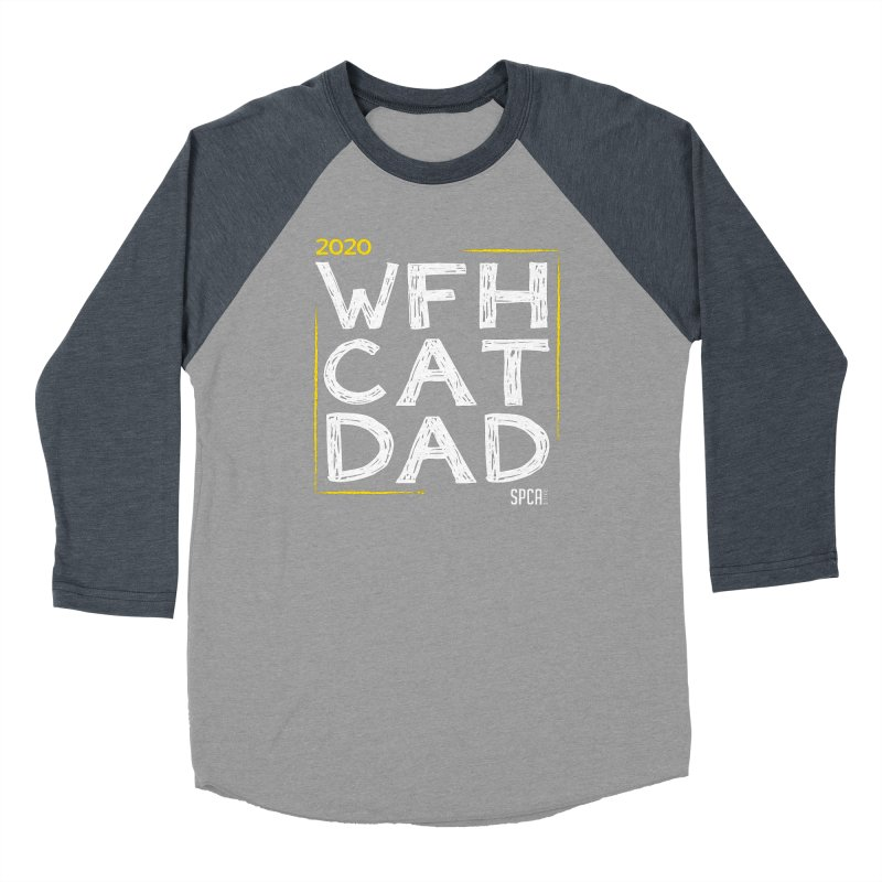 Work From Home Cat Dad 2020 - Limited Edition Men's Baseball Triblend Longsleeve T-Shirt by SPCA of Texas' Artist Shop