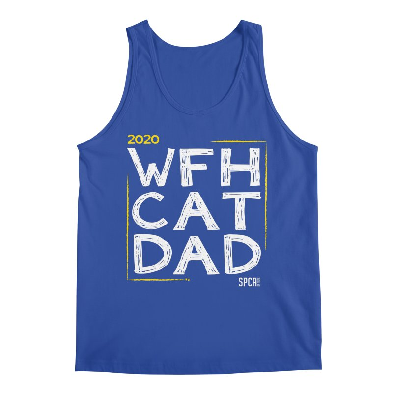 Work From Home Cat Dad 2020 - Limited Edition Men's Regular Tank by SPCA of Texas' Artist Shop