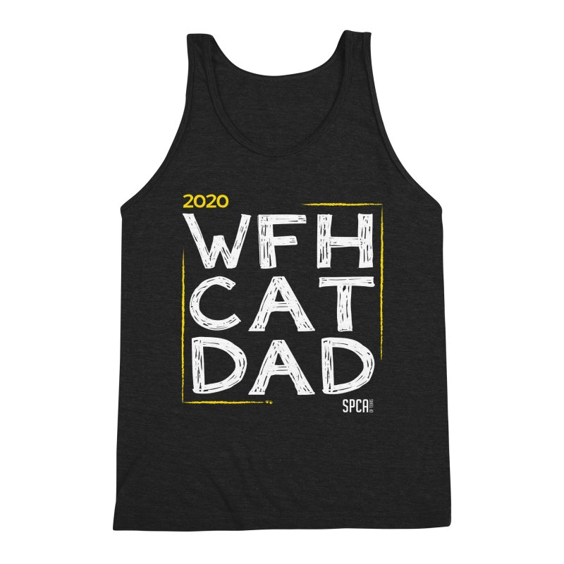 Work From Home Cat Dad 2020 - Limited Edition Men's Triblend Tank by SPCA of Texas' Artist Shop