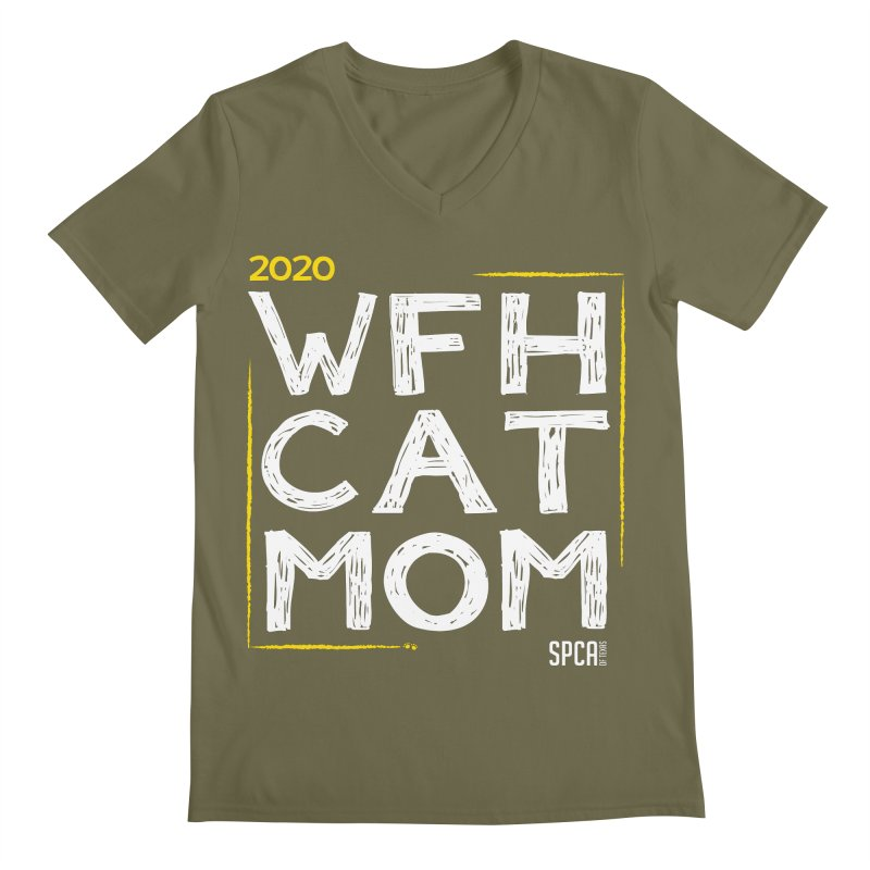Work From Home Cat Mom 2020 - Limited Edition Men's Regular V-Neck by SPCA of Texas' Artist Shop