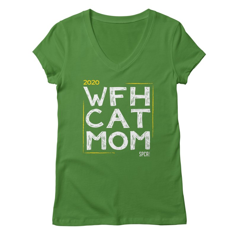 Work From Home Cat Mom 2020 - Limited Edition Women's Regular V-Neck by SPCA of Texas' Artist Shop