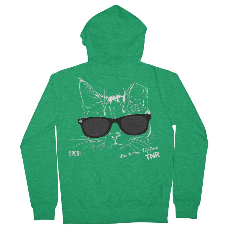 Hip to be Tipped - TNR Men's French Terry Zip-Up Hoody by SPCA of Texas' Artist Shop