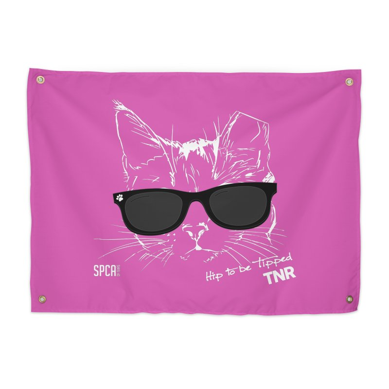 Hip to be Tipped - TNR Home Tapestry by SPCA of Texas' Artist Shop